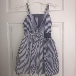 Cat & Jack girls 7/8 white and blue dress